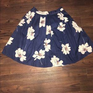 Zara Woman Floral Skirt